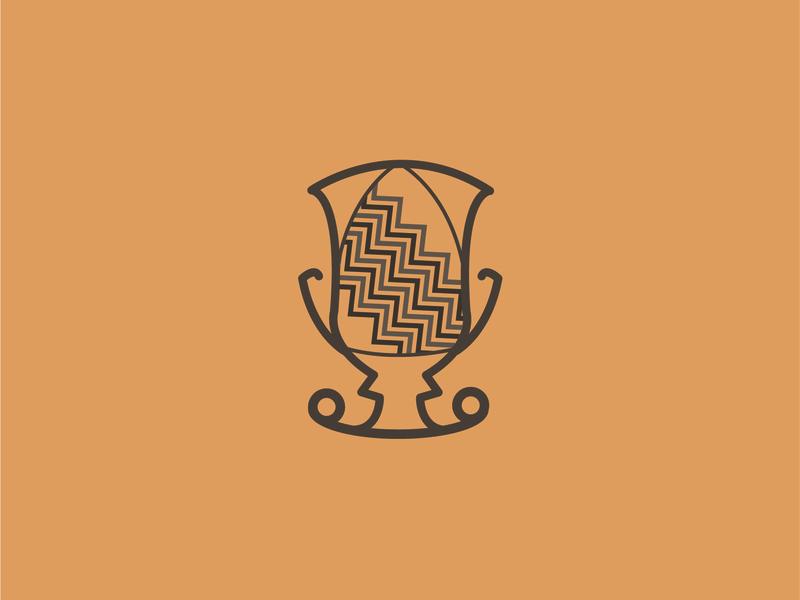 Vase of Assteas #2 graphic logo vector illustrator cc illustration brown gold icon design flat colors