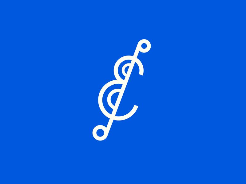 Enarmonia Logo's icon vector design branding school music colors white blue flat graphic logodesigner logodesign illustrator cc logo illustration illustrated logo