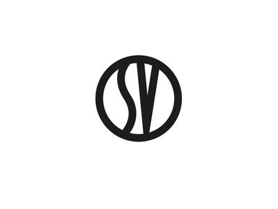 Sutor Volceiano's Logo typography shape black logo icon flat colors white illustration vector illustrator cc graphic design