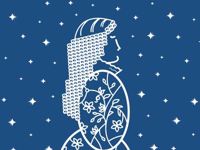 Illustration - Maria SS. Immacolata madonna saint art director shape icon flat colors white illustration vector illustrator cc graphic design