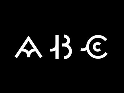 ABC font typography black shape logo icon flat colors white illustration vector illustrator cc graphic design