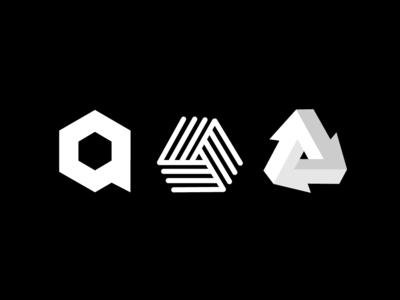Acube's logo letter branding black shape logo icon flat white illustration vector illustrator cc graphic design