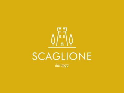 Scaglione dal 1977 oil yallow typography branding shape logo colors icon flat white illustration vector illustrator cc graphic design