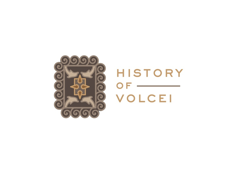 History of Volcei history volcei ux ui gold brown typography branding logo white shape colors icon flat illustration vector illustrator cc graphic design