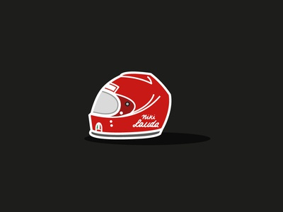 Niki Lauda Tribute ferrari lauda niki f1 red black white shape colors icon flat illustration vector illustrator cc graphic design