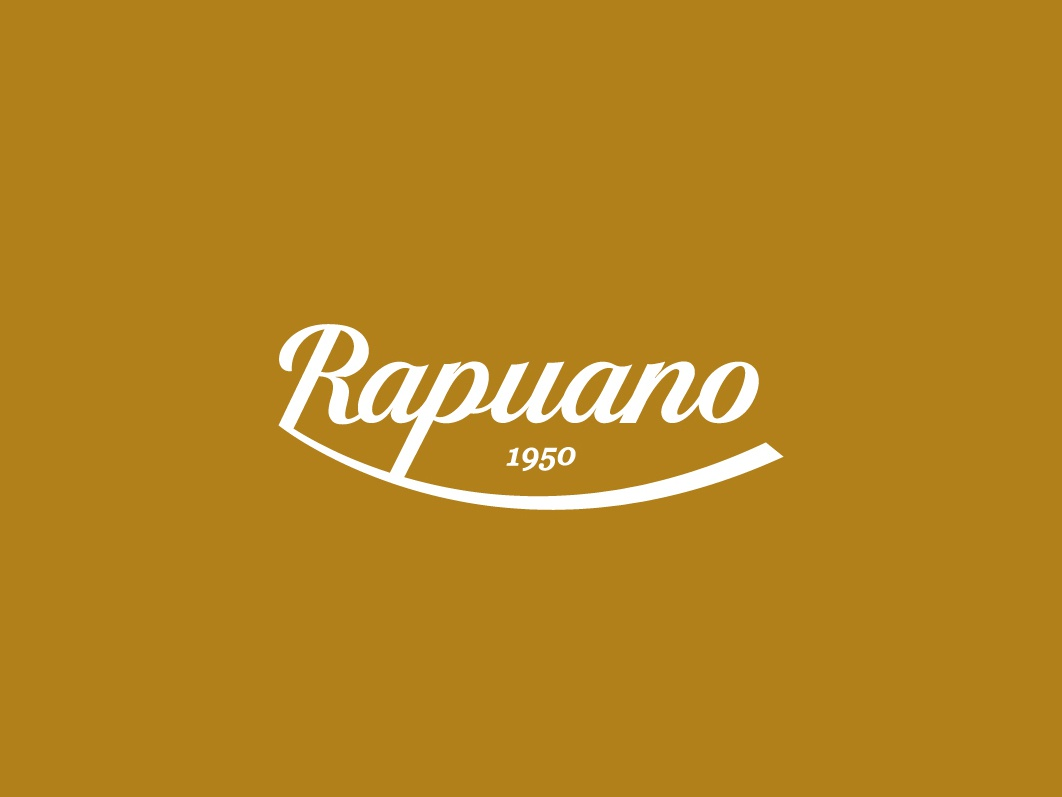 Rapuano - Logo Design gold typography branding logo white shape colors icon flat illustration vector illustrator cc graphic design