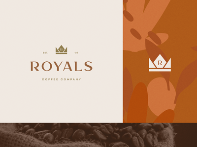 Royals Coffee Company crown royal vintage agro coffee shop coffee design logo branding