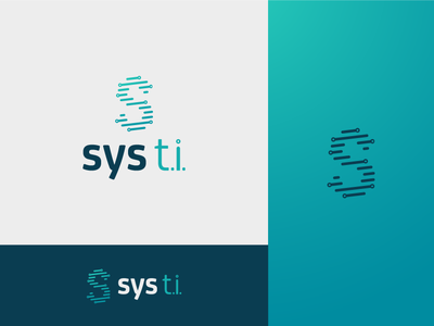 Sys Ti letter s s letter type technology tech logo tech icon logo design branding