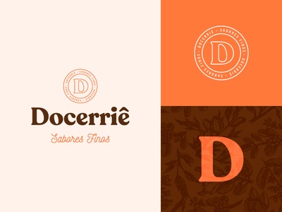 Docerriê Sabores Finos chocolate coffee candy d logo d letter vector illustration logo 3d icon logo design branding
