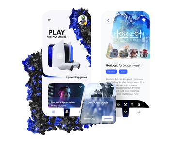 Playstation app concept redesign invision figma photoshop mobile intarface typography ux ui app playstation minimal games