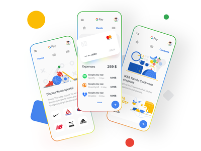 Google pay concept component gradient finance pay googlepay google uidesign clean minimal