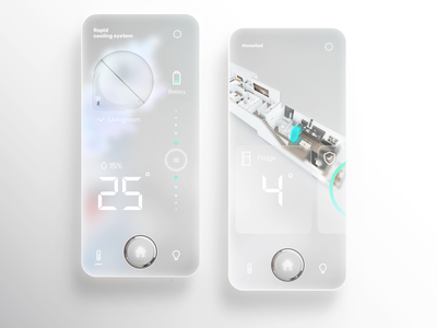 Smarthome App glassmorphism smarthome ui uidesign mobile minimal