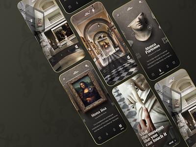 Virtual Museum app baroque virtualreality museum ui uidesign mobile
