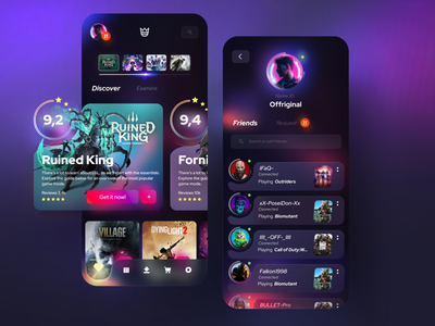 Game Store mobile concept uidesign esports video games games store mobile dark mode