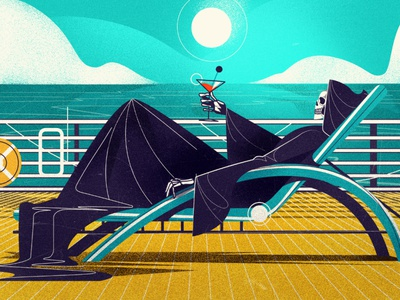 Death vacation death vector illustration
