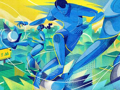 NIKE - Brasileiragem nike illustrator world cup soccer brazilian package vector illustration
