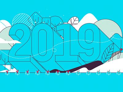 New Year Plans new year 2019 brazilian web vector illustration