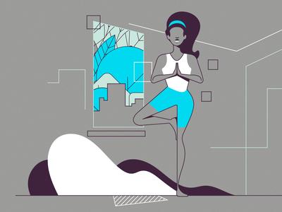 New Year Plans peace yoga new year 2019 brazilian vector web illustration