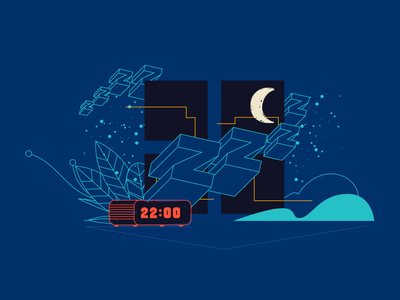 Uol Viva Bem sleep brazilian illustrator web vector illustration
