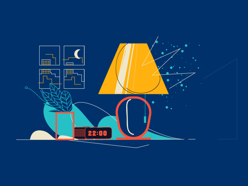 Uol Viva Bem design sleep brazilian illustrator vector illustration