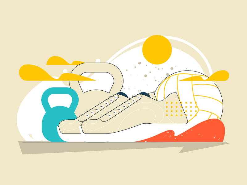 Uol - Learning web fitness brazilian illustration