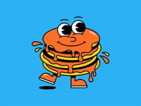 Pancake Pal 🥞 vector design character design mascot pancakes food simple character shadow logo icon illustration