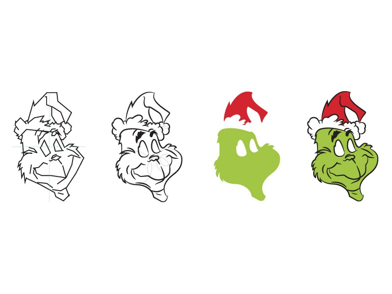 42   the grinch who stole christmas   the grinch   process   dribbble