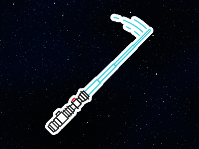 Whip Out Lightsaber obi-wan vector space toy retro logo starwars sci-fi lightsaber star wars icon
