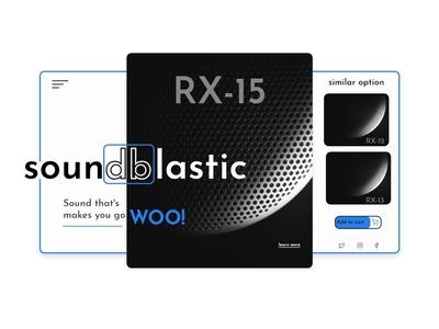 soundblastic site UI design