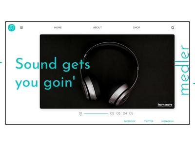 medler site UI design