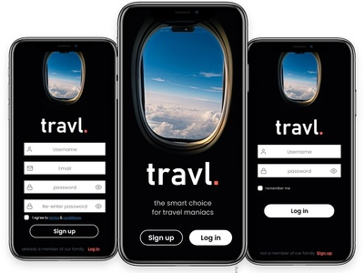 travl UI design