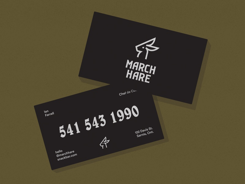 March Hare Snack Bar Business Cards
