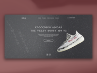 Landing page for sneaker shoes store
