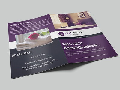 Hotel Brochure vacation travel summer modern holiday hotel booking bi-fold brochure brochure hotel