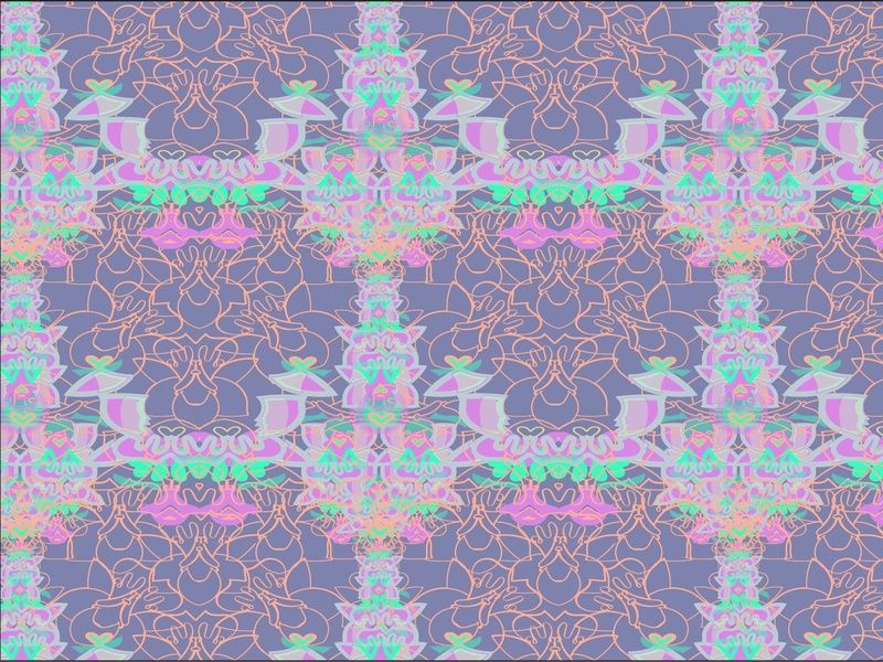 orchids repeat print surface design vector