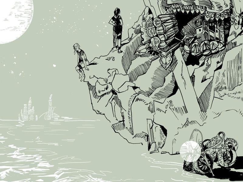 Cover illustration for Codex Magazine (detail) illustration