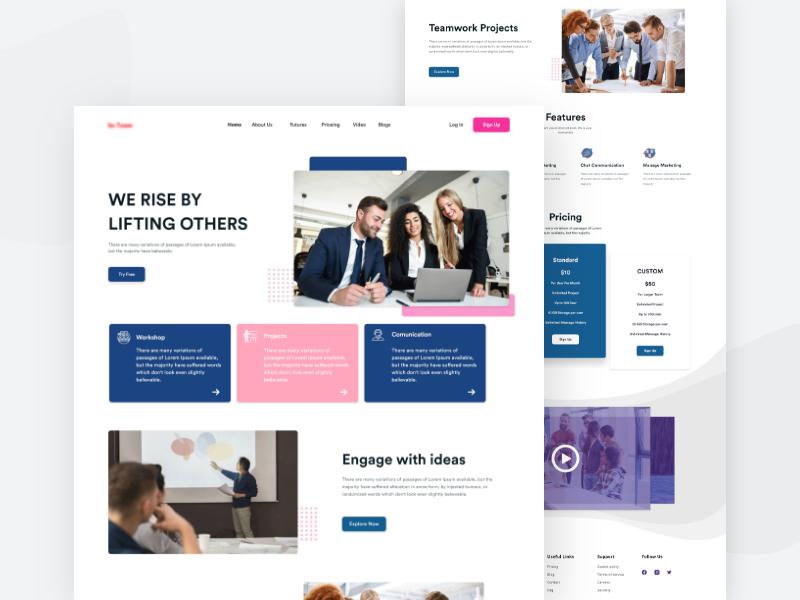 Digital Agency Landing Page Design minimal app web ux ui illustration ui  ux app ui design minimal design app design web design dashboard website website design webdesign