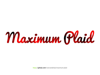 Maximum Plaid max stripes red logo github plaid