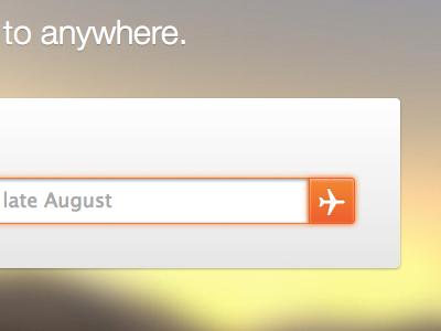 Flight search adioso flight search orange panel sunset blur image photo plane airplane button