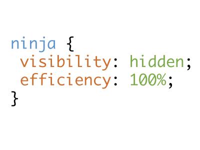 CSS Ninja ninja playoff code poster css stylesheet