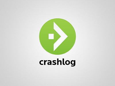 New CrashLog logo crashlog logo green locator font