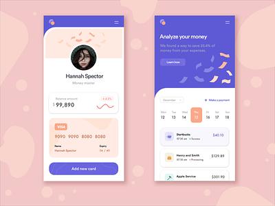 FinTech UI Screen finance sketch app design ui