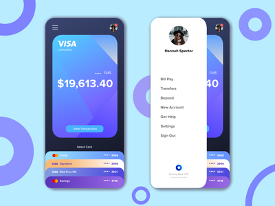 Banking App Concept minimal flat credit card app money creditcard gradient ui sketch finance design