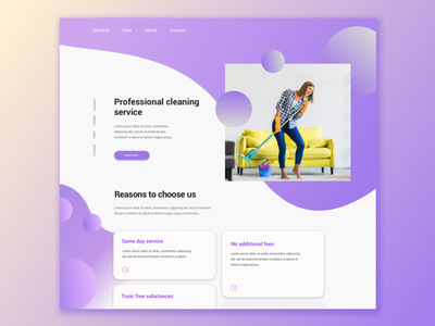 Service Design - Website Concept purple interface webdesign web gradient flat ui sketch design