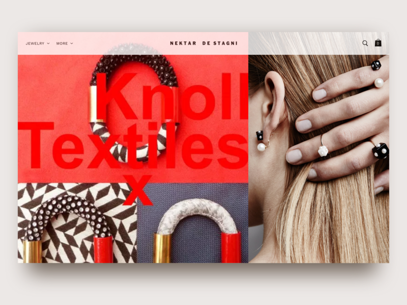 Nds Knoll webdeisgn typography web ux ui photography jewelry shop graphicdesign design branding