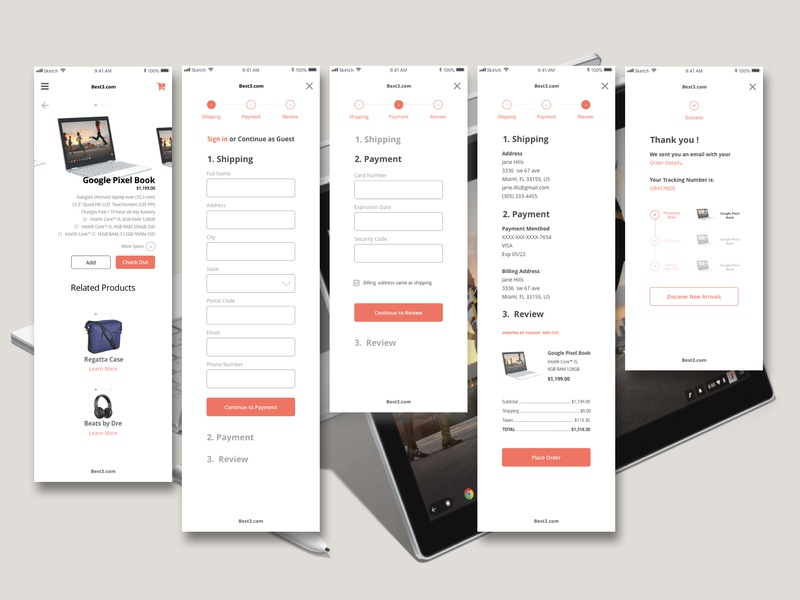 Checkout Process UX-UI responsive design shopping bag checkout page checkout process ui ux