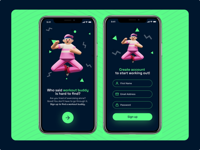 #DailyUI - Day 1 - Sign up screen mobile app development mobile application mobile app design ui designer ui ux uiux mobile ui uidesign workout app workout buddy workout mobile apps mobile design mobile app mobile ui daily 100 challenge daily dailyuichallenge dailyui