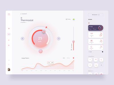 Smart Home App ui kit web minimal clean ux ui