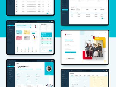My Emerge: HR Software web minimal clean ux ui
