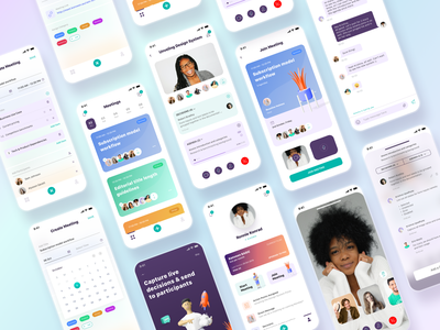 Video Meeting App uxuidesign mobileappdesign productdesign minimal ios clean ux ui